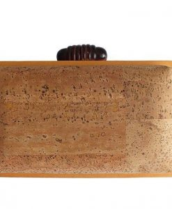 Natural cork clutch box / vegan clutch box - made of cork and wood