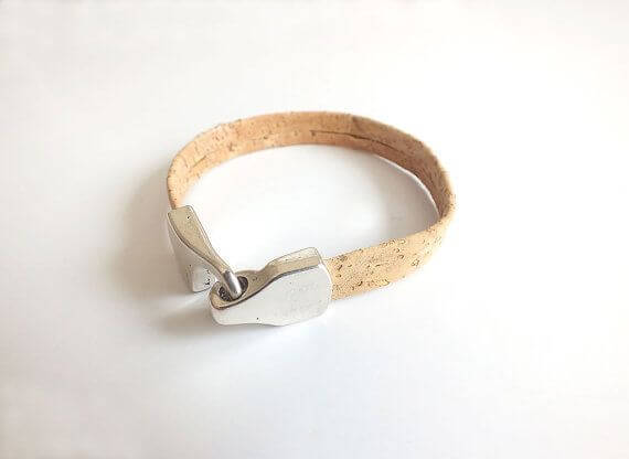 Unisex cork leather bracelet / vegan bracelet
