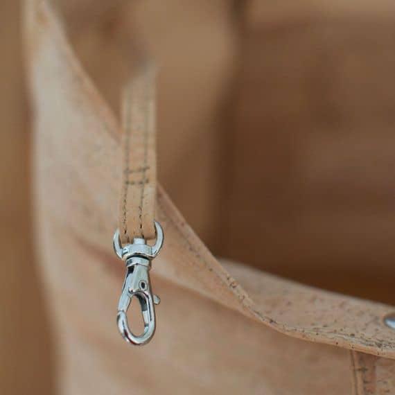 Dark cork shopper bag / cork tote bag / vegan tote bag / vegan shopper - Handamade of dark cork leather