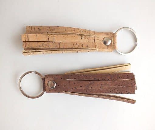 Dark cork tassel keychain bag charm
