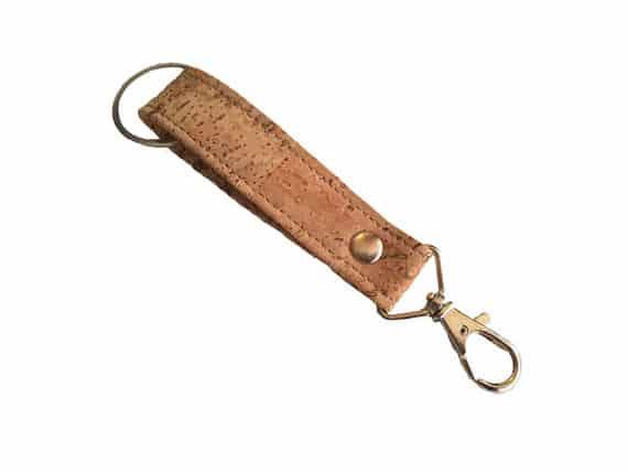 Vegan keychain / cork keychain- eco friendly key chain handmade of light cork