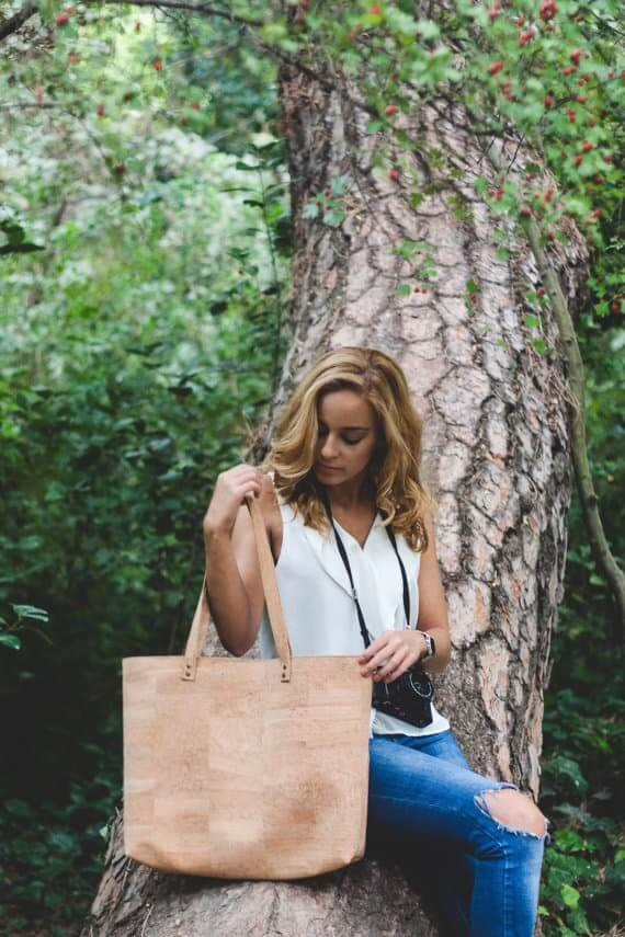 Cork tote bag / cork shopper bag / cork bag / vegan tote bag / vegan shopper