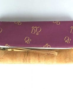 clutch corcho purpura