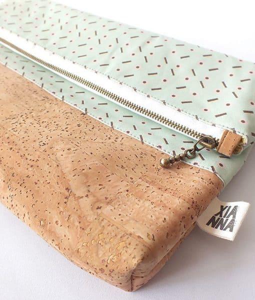 fold over cork clutch licorice xianna