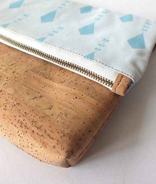 Clutch corcho y algodon organico